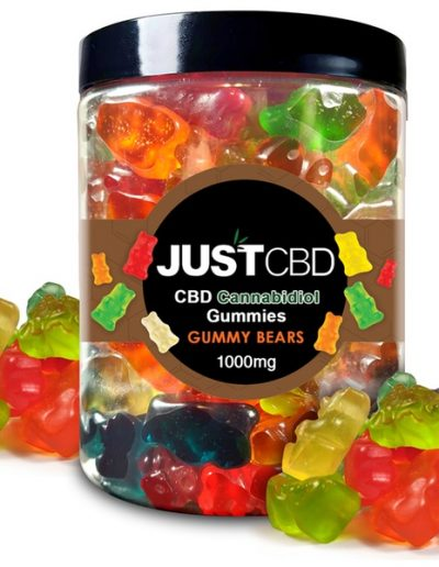 Just CBD delicious bear-shaped gummies